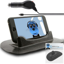 Anti-Slip In Car Holder And Micro USB Charger For Blackberry 9105 Pearl 2