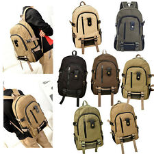 New Men's Canvas Backpack School Vintage Satchel Shoulder Laptop Bag Travel  023