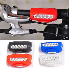 New Cycling Bike Bicycle Silicone 7 LED Frog Front Head Light Rear Warning Lamp