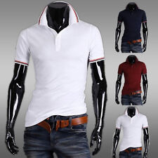 Stylish Fashion Mens Slim Casual Sport Short Sleeve Polo Shirts Tops T-shirt Tee