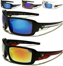 NEW SUNGLASSES BLACK MENS LADIES BOYS DESIGNER SPORTS WRAP LARGE MIRRORED UV400