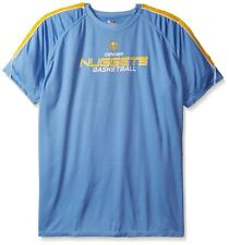 Denver Nuggets NBA Majestic Mens Buzzer Beater Synthetic Shirt Big & Tall Sizes