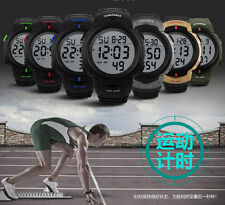 Fashion Sport Wrist Watch Waterproof Men's Boy LCD Digital Watch Date Rubber