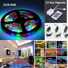 5M/lot 3528 RGB IP65 300 Led SMD Flexible Light Strip Lamp+24 key IR+12V Power