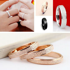 1PC New Men Women Wedding Band Ring Frosted Stainless Steel Size 7-11 Lover Gift