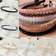 Women Girl Bead Metal Crystal Headband Head Piece Hair Band Hairband Accessories