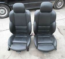 bmw e46 3 series 4dr front sports seat pair left right black leather 1999 bmw z3 office chair seat converted