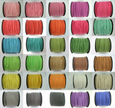 5/100 Yards Korea Faux Suede Cord DIY Jewelry Flat Leather Cord Rope 2.5mm C3B