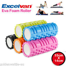 Foam Roller Grid 33cm EVA Physio Pilates Yoga Gym Massage Exercise Trigger Point