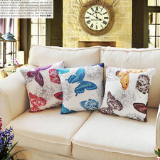 """17*17"""" Classic Butterfly Cushion Cover Sofa Throw Pillow Case Home Decor Bedroom"""