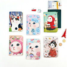 JETOY Cute Cat Passport Case Cover Boarding Pass Holder Wallet Travel Accessory