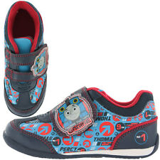 Thomas The Tank Engine Weld Boys Trainers - Blue (Sizes 5,6,7,8,9,10)