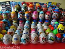 Chocolate /Plastic Surprise Eggs toys FROZEN MICKEY CARS TURTLES...+ kinder bar