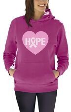 Hope Breast Cancer Awareness Heart Shaped Pink Ribbon Women Hoodie Support