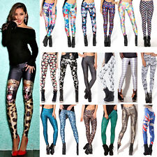 Women 3D Print Galaxy Punk Leggings GYM YOGA Stretchy Jeggings Slim Pencil Pants