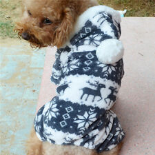 Winter warm Fleece Dog Coat Jumper Hoodie with size suits small dog to large dog
