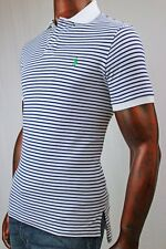 POLO Ralph Lauren Mesh Custom Fit Polo Navy And White Stripe ~NWT~