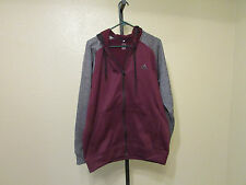 New With Tags Adidas Womens Zippered Jacket-Color-Maroon/Grey/Black-Size-Lg,