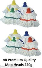 Colour Coded Mop Heads Looped Cotton 220g 8oz Universal Fit Machine Washable New