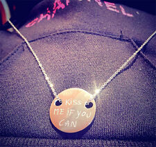 """Hot sale Women Men Pendant Necklace G-Dragon """" kiss me if you can """" Jewelry Gift"""