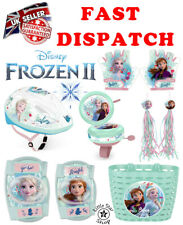 Disney FROZEN Kids Bike Cycle Set Accessory Helmet Bell Basket Gloves Bottles