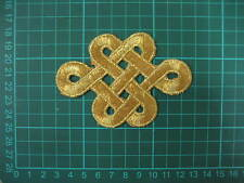 Gold Iron On Embroidered Applique Patch #38 Tutu Dance Costume Trim Decoration
