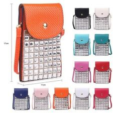 Big Handbag Shop Square Crystal Mini Cross Body Messenger Mobile Pouch Purse