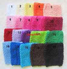 "lot of Solid Color Kids Crochet Headbands Hairbands 6"" Baby Elastic Corset Top"