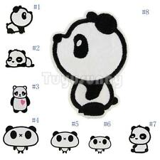 Cute Cartoon Panda Embroidery Iron Sew On Patch Cloth Motif DIY Craft Applique