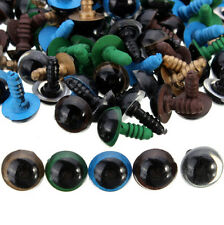 100pcs NEW 12mm Puppet Eyes Doll Craft For Teddy Bear Animal Plastic Safety
