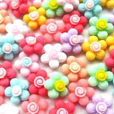 10pcs Mini Flowers Resin Flatback Flat Backs Card Craft Scrapbooking