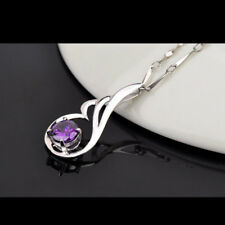 925 Silver Plated Charm Top Gift Pendant Crystal Chain Hot Angel Wings Necklace