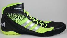 Men's Adidas Response 3.1 Wrestling Shoes Black/Silver/Electric Green G96624 New