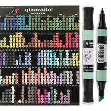 131 Colors QCL Permanent Double-Ended Marker Pen Art Sketch Design Drawing Manga