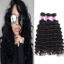 3 Bundles 300g Deep Wave Brazilian Hair Virgin Hair Deep Wave Human Hair Bundles