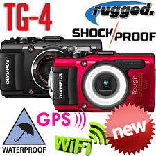 "Olympus Stylus Tough TG-4 16MP FHD 1080p GPS WiFi 3"" LCD Waterproof Camera NEW"