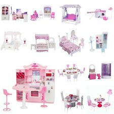 Plastic Toys Doll House Miniature Furniture Play Set For 1/6 Barbie Sindy Dolls