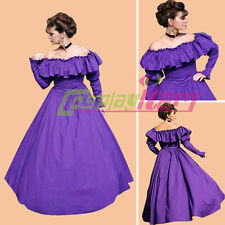 Purple Civil War Southern Belle Dress Costume Ball Gown Dress Halloween Costume
