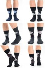 Mens Ankle Argyle Socks 3 6 or 12 Pairs UK 6-11 EU 39-45 Assorted Colours Lot