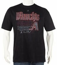 Arizona Diamondbacks MLB Majestic Mens Wallscraper Black Shirt Big & Tall Sizes