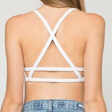 Women Lace Top Bralet Bustier Eyelash Vest Strappy Crop Top Bra Bandeau Weste