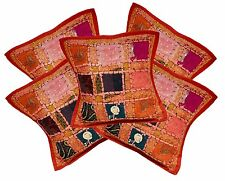5pcs-100Pcs Red Vintage Embroidery Patchwork Indian Cushion Covers Wholesale Lot