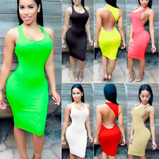 Women Sexy Backless Package Hip Nightclubs Dress Backless Party Tight Dress Hot