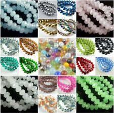 New 10Pcs 18x14mm Faceted Loose Glass Crystal Beads Rondelle Charms Findings