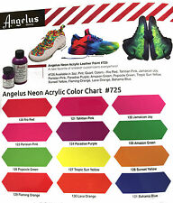 Angelus Leather Acrylic Paint - Neon Colors
