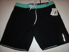 NEW BILLABONG swim board shorts trunks solid black Platinum X sz 30 32 33 34 38