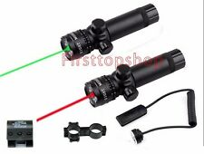 Tactical Hunting Green/Red Laser Sight Dot Scope with Pressure Switch Mount
