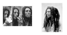 BOB MARLEY - 3 IMAGES / DREADLOCKS B&W - OFFICIAL TEXTILE POSTER FLAG