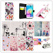 Fashion Painting Magnetic Flip Stand Card Leather Wallet TPU Case For Samsung