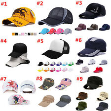 Men Women New Black Baseball Cap Snapback Hat Hip-Hop Adjustable Bboy Sport Cap